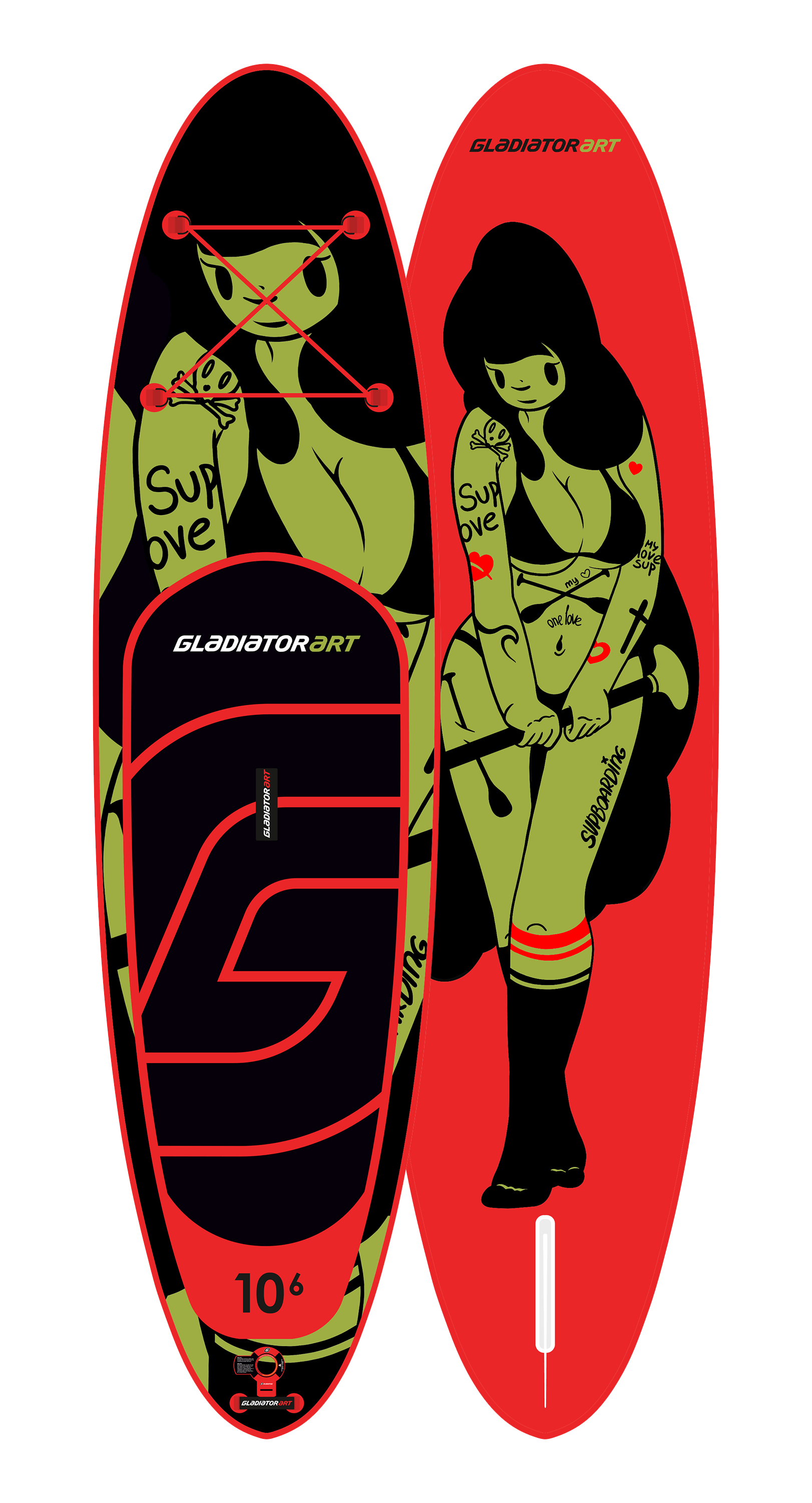 SUP-board TATTOO 10,6