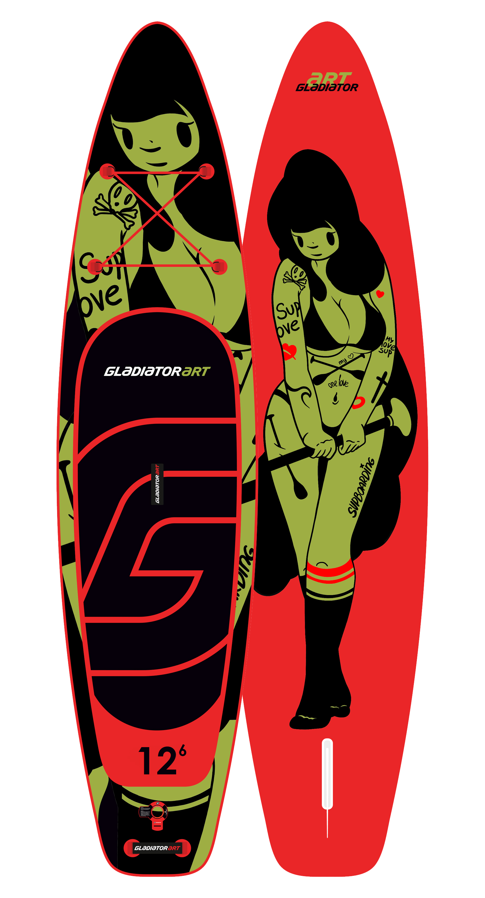 SUP-board TATTOO 12.6